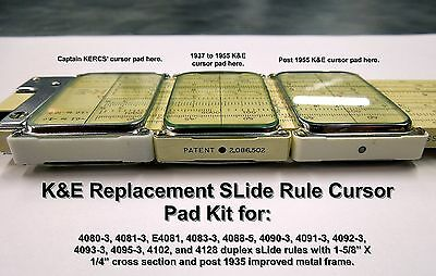 Replacement K&E SLide Rule Cursor Pads for 4081-3 ( IL+ )
