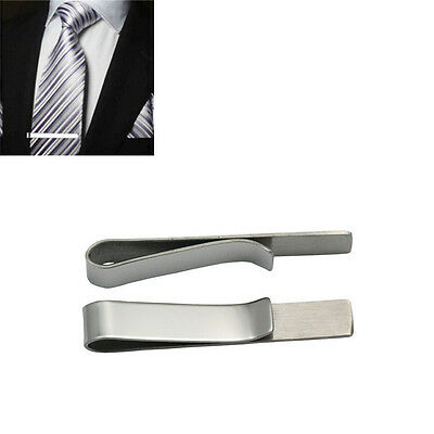 Necktie Bar 2016 Clamp  Clasp Tie Pin Simple Fashion Men Silver Metal Clip