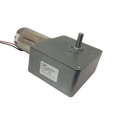DC Worm Gear Motor 24V 6RPM High Torque Speed Reducer Gearbox Motoe Self-locking