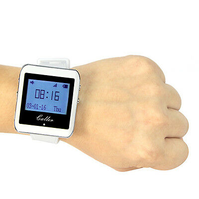 Wireless Watch Calling Receiver Call Pager System for Restaurant Hospital 433MHz