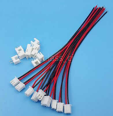 10Sets XH2.54 2Pin 1007 24AWG Single End 15cm Wire To Board Connector