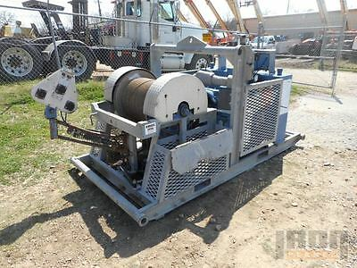 Wireline Winch- Skid Mounted w/ 3/16 Cable