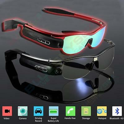 WIFI Bluetooth Smart Glasses Sunglasses 8G Video Camera Recorder For Android IOS