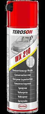 500ml Teroson WX210 Multi-Wax-Spray Korrosionsschutz Konservierungs-Wachs hell