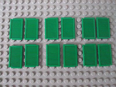 ☀️NEW LEGO X24 GREEN Window 1 x 2 x 3 Shutter parts pieces lot House building