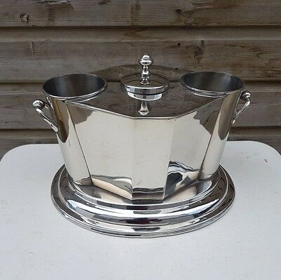 Silver Plated Bottle Deco Wine Cooler Ice Bucket