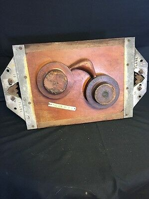 "Vintage Industrial Wooden Foundry Mold Wall Decor 21"" x 12"" Early 1900's"