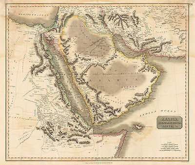 HJB-AntiqueMaps : 1814 Map of the Middle East by Thomson