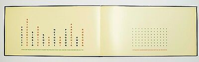 Hamish Fulton: A Twelve Day Walk and Eighty-Four Paces,1991. Signed Artist Book