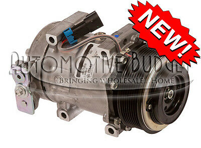 A/C Compressor w/Clutch for Sanden 4314, 4615 - NEW