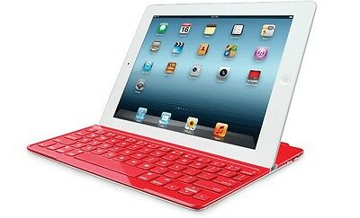 Logitech Ultrathin Keyboard Cover for iPad 2/3/4 Red (FRA Layout - AZERTY) Bluet