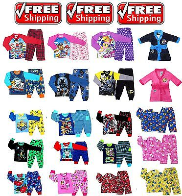New 1~12 Boys Kids Pyjamas Pj Pjs Winter Sleepwear Tee T-Shirts Girls Paw Patrol