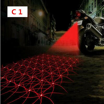 Universal Laser Safety Anti Collision Rear Motorcycle Decorative Fog Light Lamp