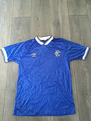 Rangers Home Shirt 1984/85 Rare And Vintage