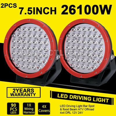 7inch 1350W Cree LED Driving Lights Spot bar Offroad Truck Replace HID Blacklamp