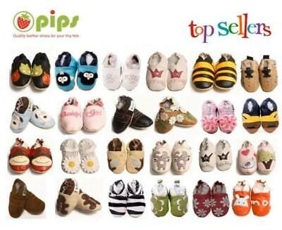 NEW Luxury Soft Leather Baby Shoes Pram 0-6, 6-12, 12-18, 18-24m UK SELLER