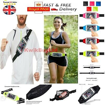 Water-Resistant Sports Running Fitness Waist Belt Case For iPhone 7 8 XR XS Max