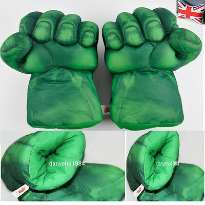 New Amazing Hulk Smash Hands Plush Punching Boxing fists Gloves Cosplay Set Of 2