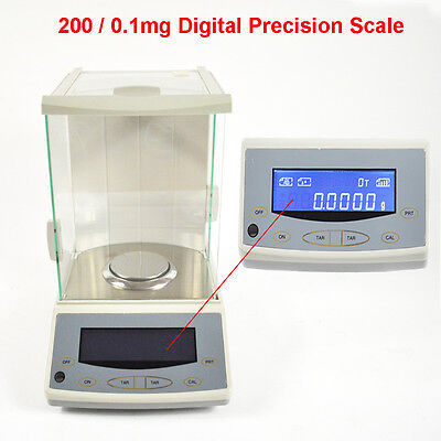 200 / 0.0001G 0.1Mg Digital Precision Scale Lab Analytical Balance With Ce Hot