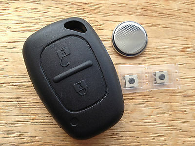 Suitable RENAULT 2 BUTTON TRAFIC MASTER VAN REMOTE KEY FOB CASE FULL REPAIR KIT