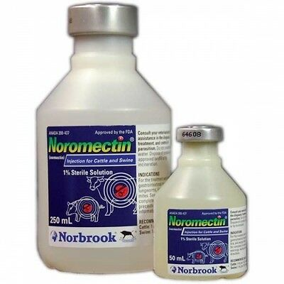 Noromectin (Ivermectin) 1% Injectable Dewormer for Cattle - 50 mL