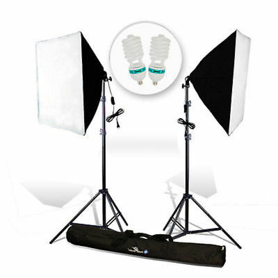 "|2-Pack| 24 x 16"" Softbox Stand Photography Photo Studio Continuous Lighting Kit"