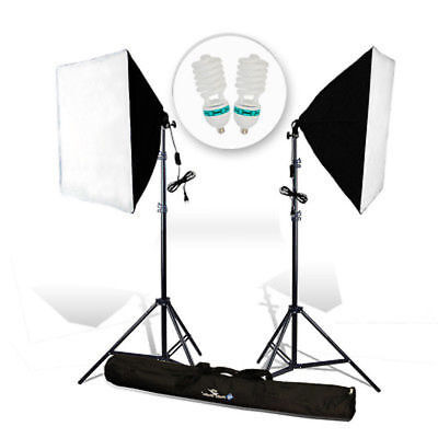 2PCS Lighting Softbox Stand Photography Photo Equipment Soft Studio Light Kit