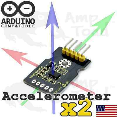 2 x 3Axis Accelerometer Sensor -Tracks Position by Motion Arduino TTL Raspberry