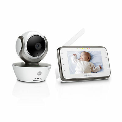 """Motorola Mbp854 Wi-Fi Hd Video Baby Monitor Connect Digital 4.3"""" Touch Screen"""