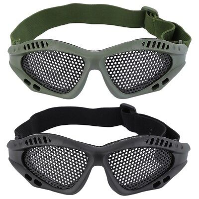 Durable Outdoor Eye Protective Safety Tactical Metal Mesh Glasses Goggle GT