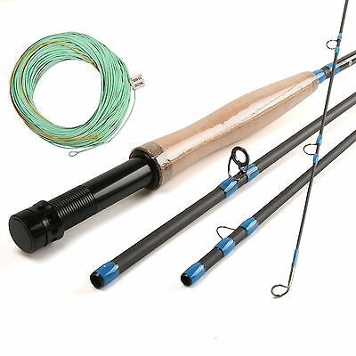 Nymph Fly Fishing Rod 3/4WT 10FT Fast Action W/ Nymph Fly Line