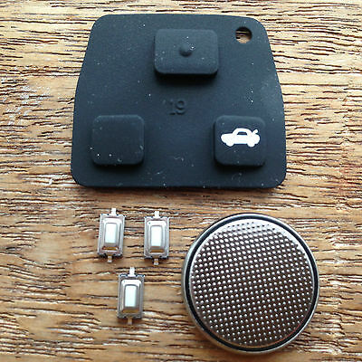 FOR Toyota Rav4 Yaris MR2 Corolla Avensis 2 / 3 Button Remote Key Fob Case KIT