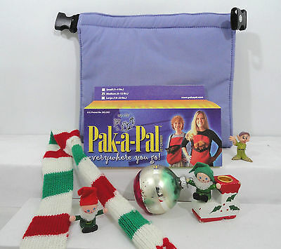 """New Small (1-4 Lbs) Personal  """"Pet Carrier"""" Pak-A-Pal Snow Blue Color"""