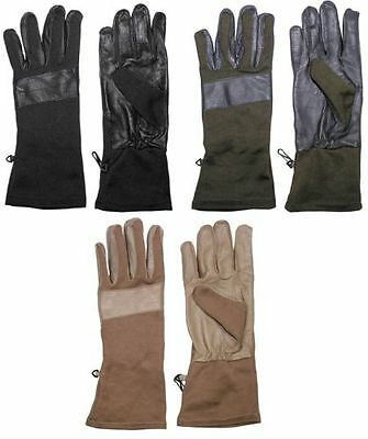 GLOVES with leather BUNDESWEHR Army Work gloves black coyote olive S-XXL