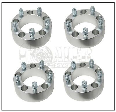 """4 X DODGE RAM 1500 Wheel Spacers 2"""" Thick Adapters 5x5.5 5 Lug Bolt Aluminum"""
