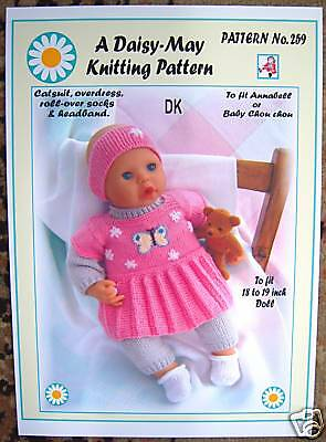 Daisy May Dolls Knitting Patterns : 1 DOLLS KNITTING PATTERN for 17 to 19 inch doll Annabell No 228 by Daisy-May ...