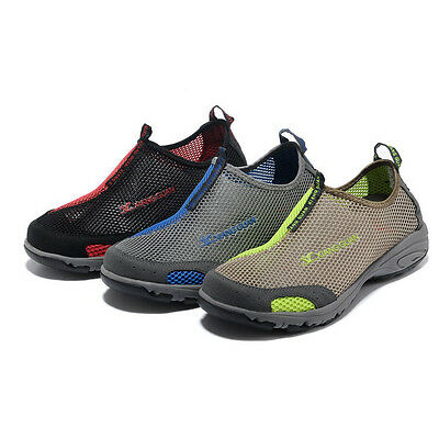 Mens Aqua Beach Surfing Slip On Water Shoes Hiking Athletic Shoes UK 6-10