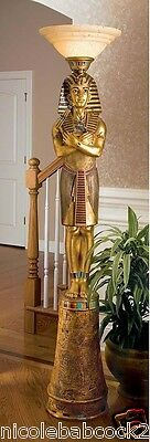 "74.5"" LIFE SIZE  ANCIENT Egyptian Pharaoh Tutankhamun iILLUMINATED SCULPTURE"