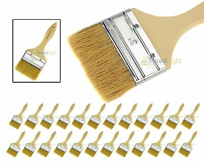 """24 3"""" Chip Brush Brushes Disposable Adhesive Paint Glue Glass Resin Crafts"""