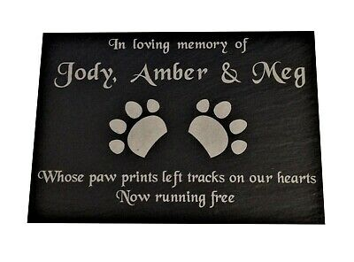 Personalised Engraved Pet Memorial Headstone Grave Marker Slate Plaque Cat