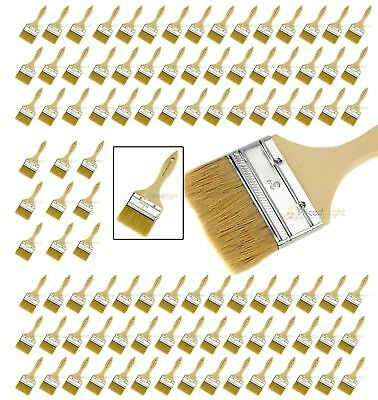 """100 NEW 3"""" Disposable Adhesive Paint / Fiber Glass Resin Gelcoat Chip Brush Pack"""