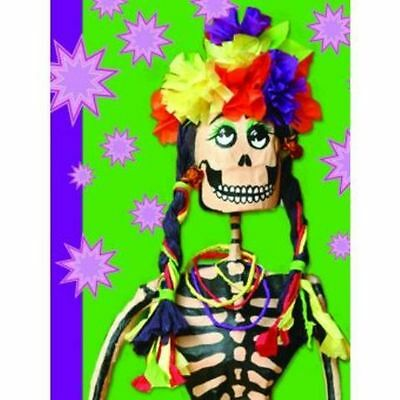 Mexican Kitsch Notebook Lady Day Of The Dead Diary Gift Mini Retro Notepad