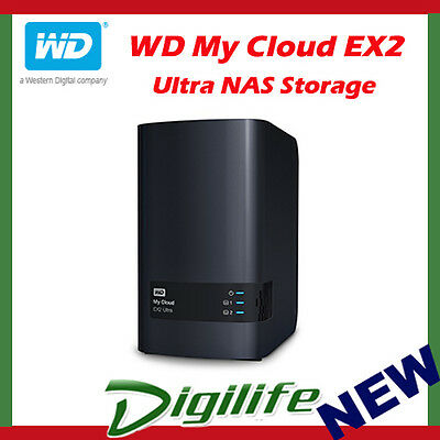 Western Digital WD My Cloud EX2 Ultra 8TB 2-Bay NAS Personal Cloud Storage