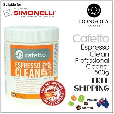 SIMONELLI 500g Espresso Coffee Machine Cleaner Profesional Cleaning by Cafetto