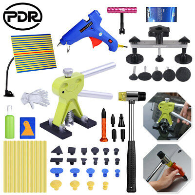 PDR Tools Dent Lifter Puller Car Body Paintless Repair Glue Removal Kit Tap Down