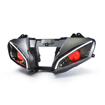 KT LED Angel Halo Eyes Headlight Assembly For Yamaha YZF R6 2006 2007 Red Kit