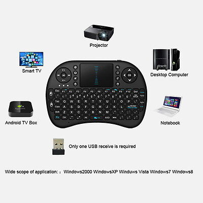 Mini Wireless Keyboard 2.4G with Touchpad Handheld Keyboard for PC Android TV GT