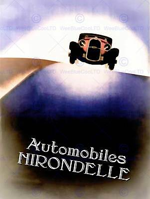 Advert Car Automobile Classic Hirondelle Travel Road Uk Art Print Poster Bb7358
