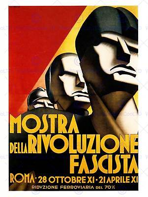Advert Exhibition Show Figure Face Revolution Italy Poster Print Abb5994B