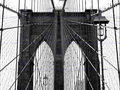 BROOKLYN BRIDGE BLACK WHITE ARCHITECTURE PHOTO ART PRINT POSTER PICTURE BMP1725A